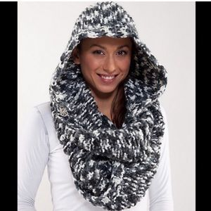 Lululemon 'Find Your Om' Hooded Knit Scarf